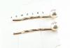 0169 komplet spinek z białymi perłami