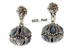 shiny silver celebrity earrings