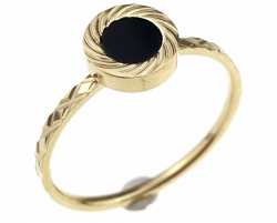 ring 16,60mm gold stainless steel