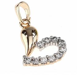 gold pendant 18k shiny xuping