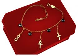 BRACELET GOLD CELEBRITY STAINLESS STEEL