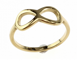 ring 17,00mm gold stainless steel