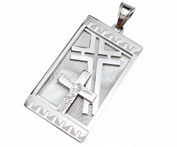 silver pendant stainless steel