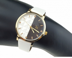 exclusive women's gold watch leather strap