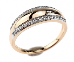 gold ring 17,00mm. gold-plated engagement xuping