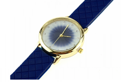 2222 Damski zegarek złoty gumowy KURREN