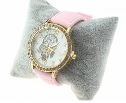 1068 Damski zegarek złoty gumowy