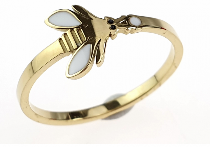 ring 19,00mm gold stainless steel