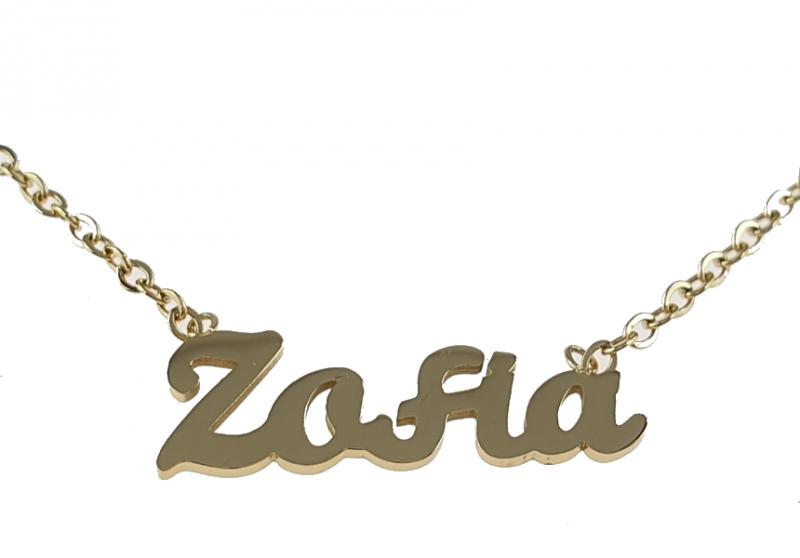 2346 Złoty łańcuszek celebrytka Zofia naszyjnik stal chirurgiczna