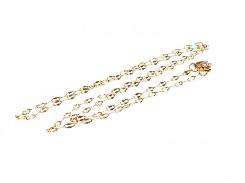 462 Złoty łańcuszek 45cm 2mm stal chirurgiczna