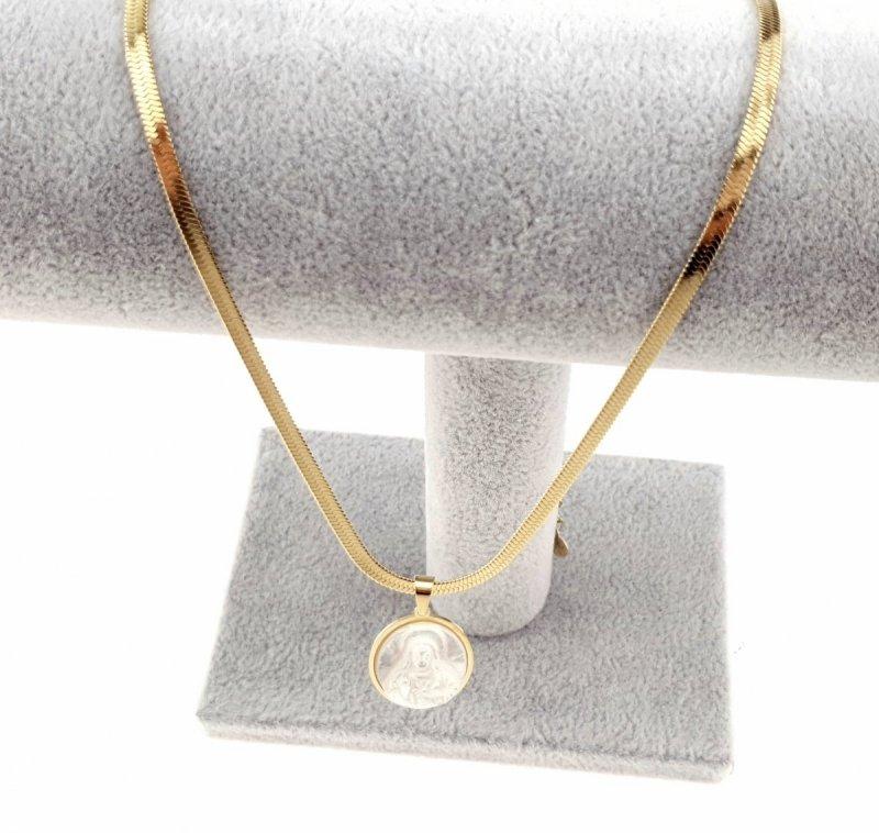 1900 Złoty łańcuszek celebrytka naszyjnik stal chirurgiczna