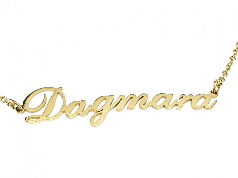 3359 Złoty łańcuszek celebrytka Dagmara naszyjnik stal chirurgiczna