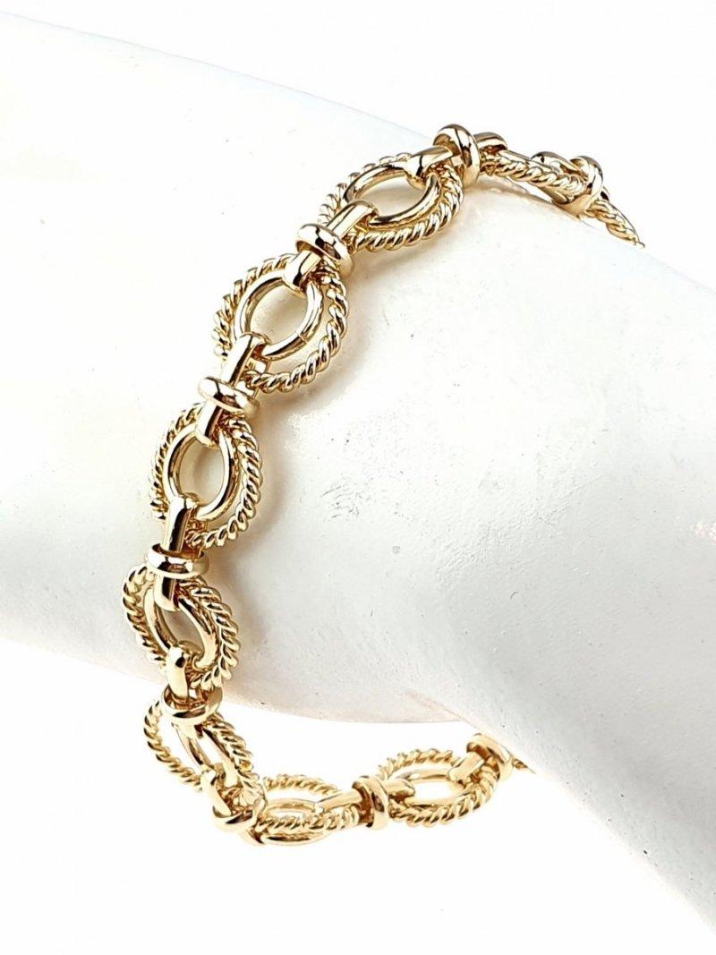 0306 Bransoletka złota pozłacana 18k Xuping