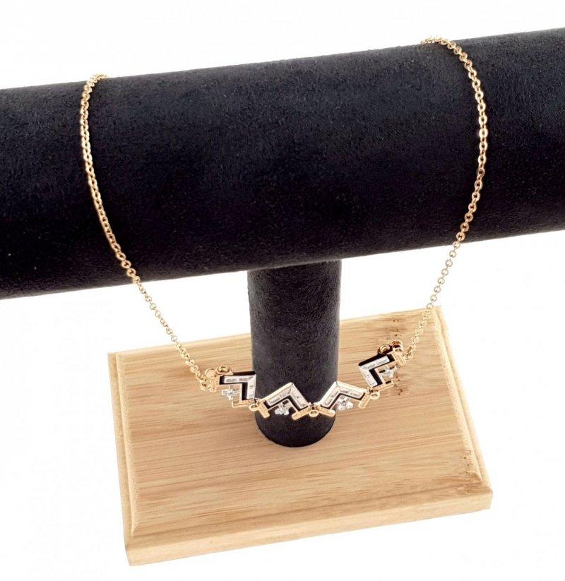 461 Złoty łańcuszek celebrytka 51cm naszyjnik pozłacany