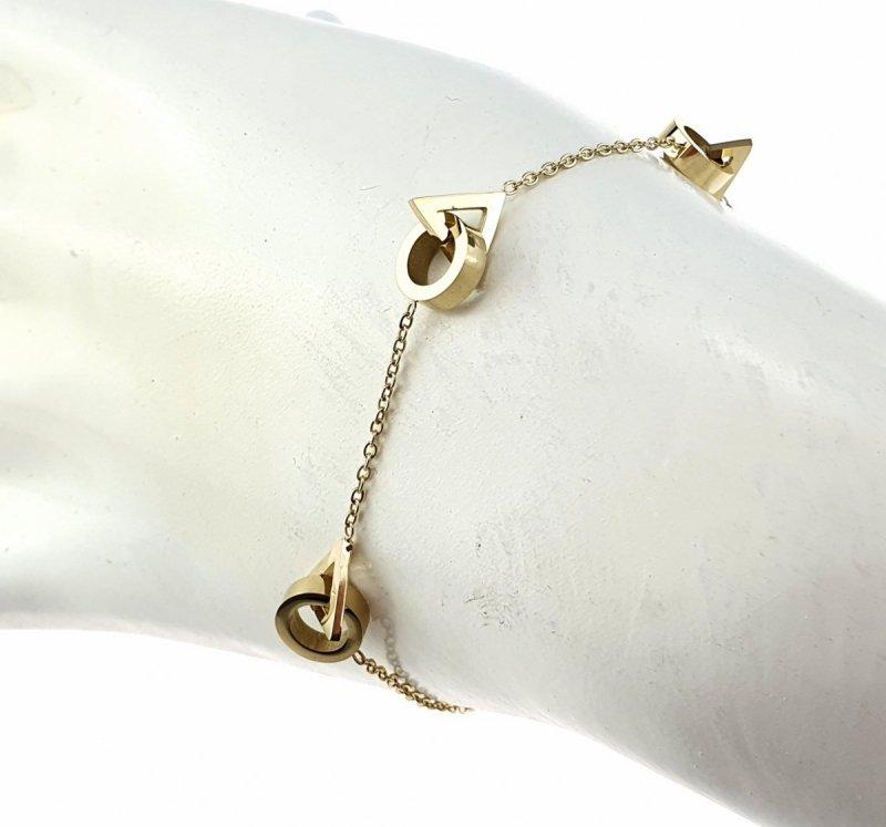 1066 Bransoletka złota celebrytka stal chirurgiczna