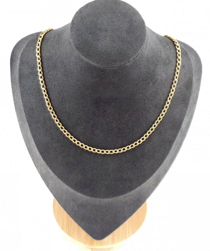 3356 Złoty łańcuszek 45,5cm 3mm stal chirurgiczna