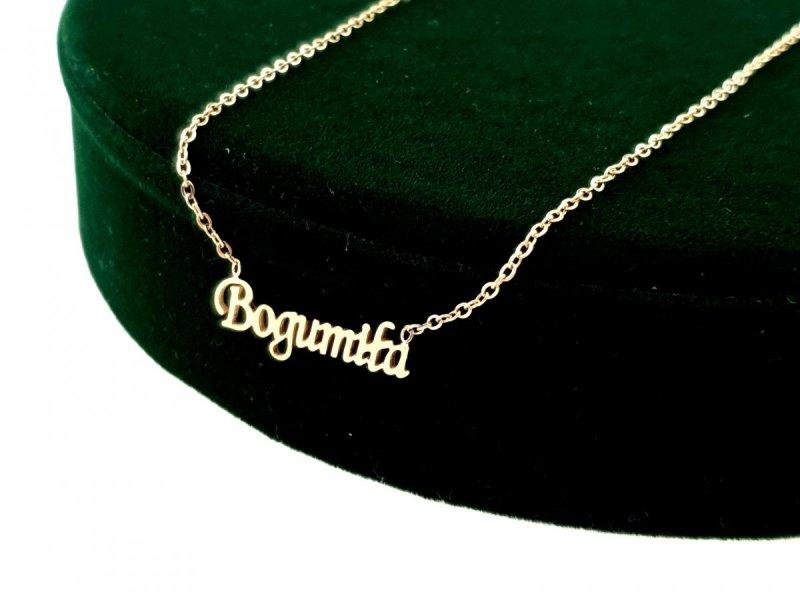 1632 Złoty łańcuszek celebrytka Bogumiła naszyjnik stal chirurgiczna