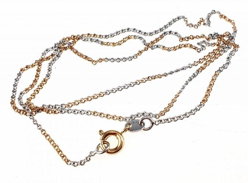 817 Złoty srebrny łańcuszek 45cm pozłacany Xuping