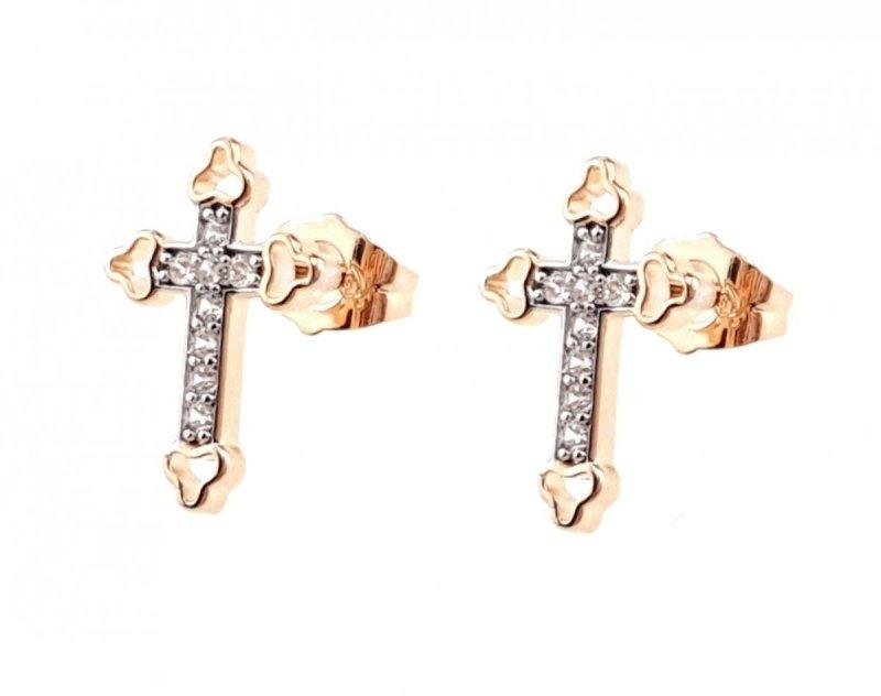 1387 Ekskluzywne kolczyki złote cyrkonia pozłacane xuping