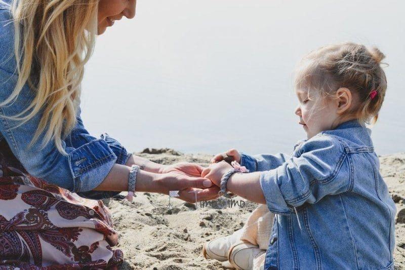 Zestaw bransoletek mama - córka