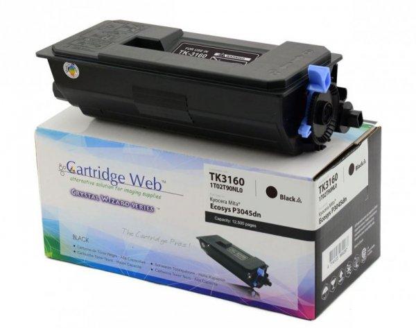 Toner Cartridge Web Czarny Kyocera TK3160 zamiennik TK-3160 (z pojemnikiem na zużyty toner WASTE BOX)