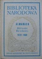 Almanach Biblioteki Narodowej 1919-1969