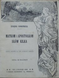 Eugenia Konopnicka • Matkom i apostołkom słów kilka