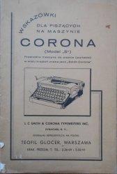 Wskazówki dla piszących na maszynie Corona (model S)