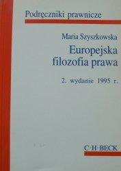 Maria Szyszkowska • Europejska filozofia prawa