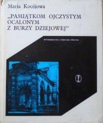 Maria Kocójowa • Pamiątkom ojczystym ocalonym z burzy dziejowej. Muzeum Emeryka Hutten Czapskiego (Stańków - Kraków)