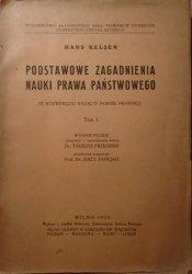 Hans Kelsen • Podstawowe zagadnienia nauki prawa państwowego (w rozwinięciu nauki o normie prawnej) tom 1. [1935]