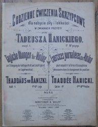 Tadeusz Hanicki • Codzienne ćwiczenia skrzypcowe dla nabycia siły i lekkości w zmianach pozycyi