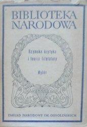 Stanisław Stabryła • Rzymska krytyka i teoria literatury