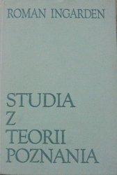 Roman Ingarden • Studia z teorii poznania