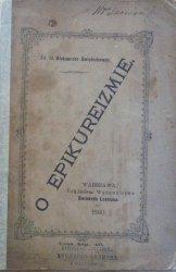Aleksander Świętochowski • O epikureizmie [wydanie 1. 1880]