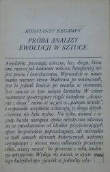 Konstanty Regamey • Próba analizy ewolucji w sztuce