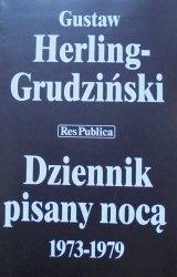 Gustaw Herling-Grudziński • Dziennik pisany nocą 1973-1979 [autograf autora]