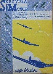 Skrzydła i Motor. Tygodnik młodzieży lotniczej rok III nr 3