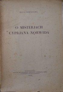 Zofia Szmydtowa • O misteriach Cypriana Norwida [1932]
