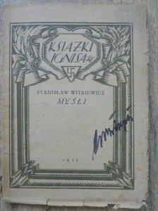 Stanisław Witkiewicz • Myśli [1923]