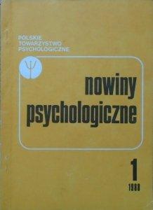 Nowiny psychologiczne 1/1988 [Carl Rogers, samobójstwo, żałoba]