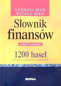 Andrzej Bień • Słownik finansów