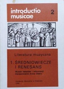 Anna Oberc • Literatura muzyczna. Średniowiecze i renesans