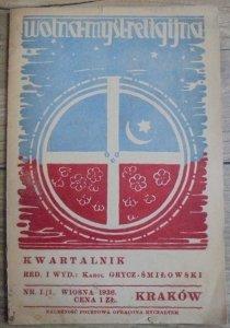 red. Karol Grycz-Śmiłowski • Wolna Myśl Religijna 1/2-1936