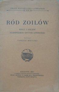 Tadeusz Mikulski • Ród Zoilów. Rzecz z dziejów staropolskiej krytyki literackiej [1933]