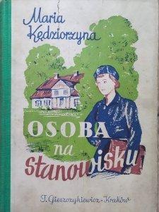 Maria Kędziorzyna • Osoba na stanowisku. Powieść dla dziewcząt