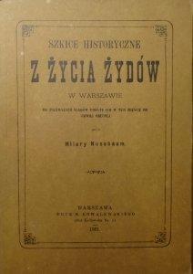 Hilary Nussbaum • Szkice historyczne z życia Żydów w Warszawie