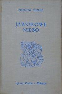 Zbigniew Chałko • Jaworowe niebo [drzeworyty Bronisław Bąk] [dedykacja autorska]