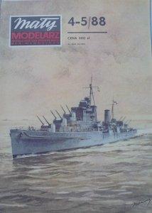 Mały Modelarz 4-5/1988 • Brytyjski krążownik przeciwlotniczy HMS 'DIDO'