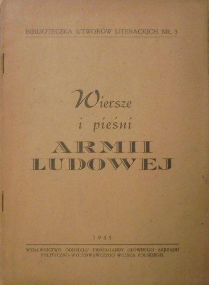 antologia • Wiersze i pieśni Armii Ludowej [Jastrun, Lec, Jaworska, Castellatti]